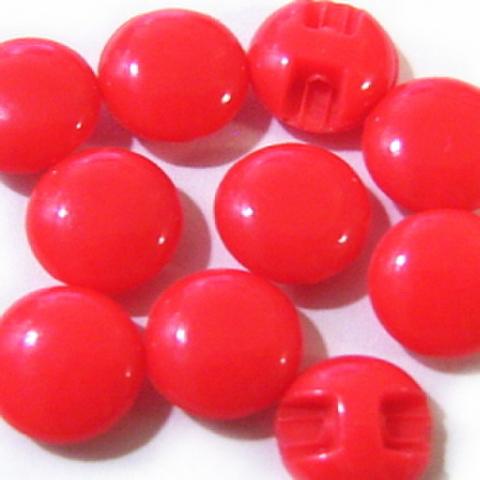 マーブルボタン【平丸】8ミリ(赤)