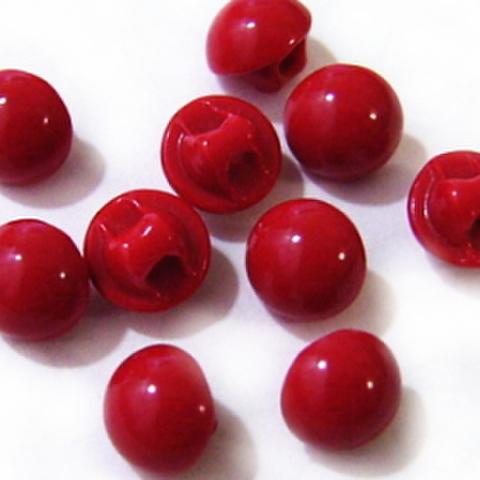 マーブルボタン・半丸6ミリ(赤)