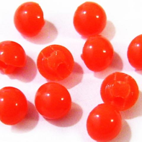 マーブルボタン・半丸6ミリ(オレンジ)