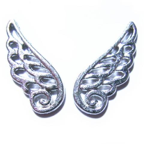 金属パーツ・天使の羽(シルバー)