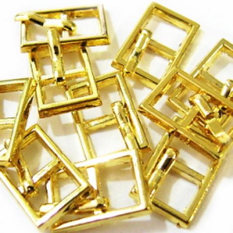 メッキバックル・長角爪10ヶセット(ゴールド)