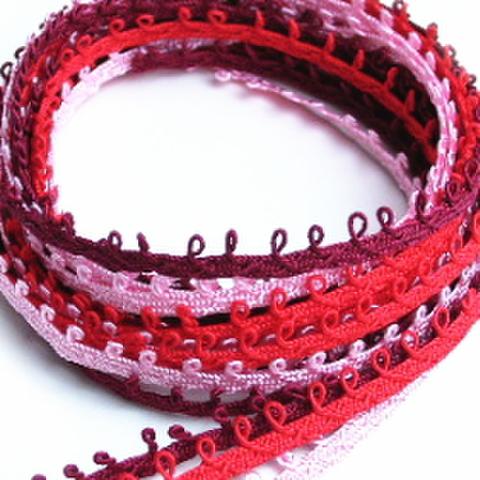 ループ付ブレードセット(赤ピンク系)