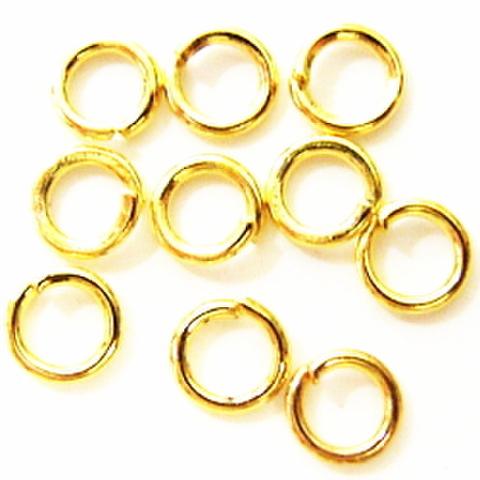 丸カン・4ミリ(ゴールド)