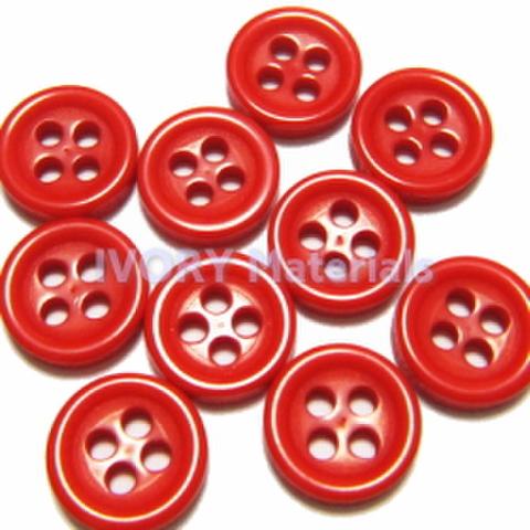 4つ穴ボタン8ミリ(赤)