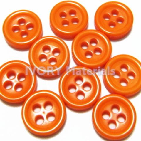 4つ穴ボタン8ミリ(オレンジ)