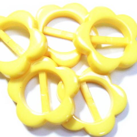 プラバックル・フラワー5ヶセット(黄色)
