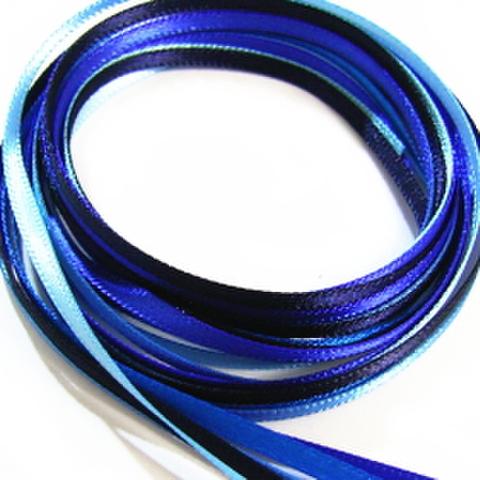 3ミリ幅サテンリボンセット(ブルー系)