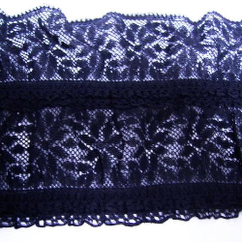 ストレッチレースボーダー(黒)