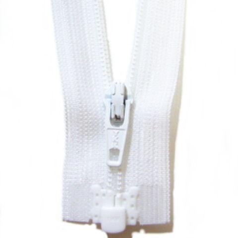 ミニオープンファスナー・3コイル(白)