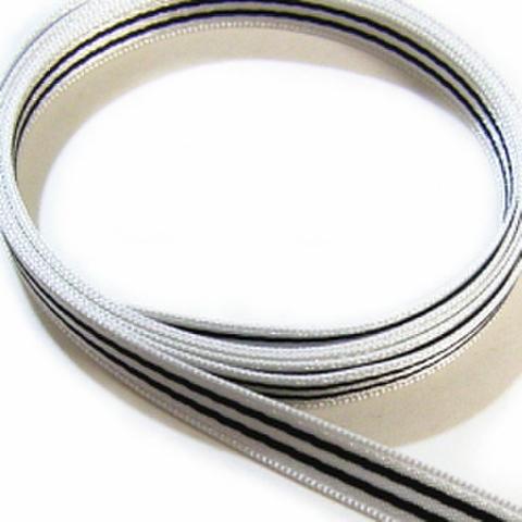 サテンストライプリボン・6ミリ幅(白)