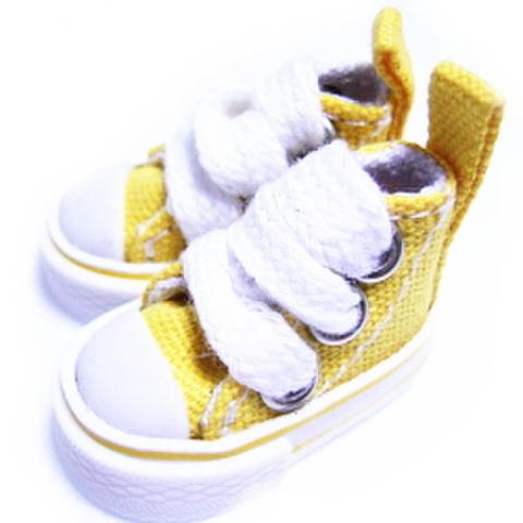 ミニハイカットスニーカー(黄色)