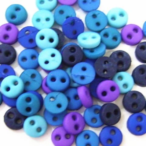 ミニボタン4ミリセット(ブルー系)