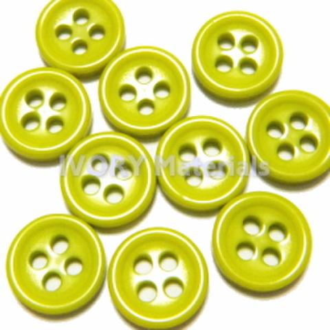 4つ穴ボタン8ミリ(きみどり)
