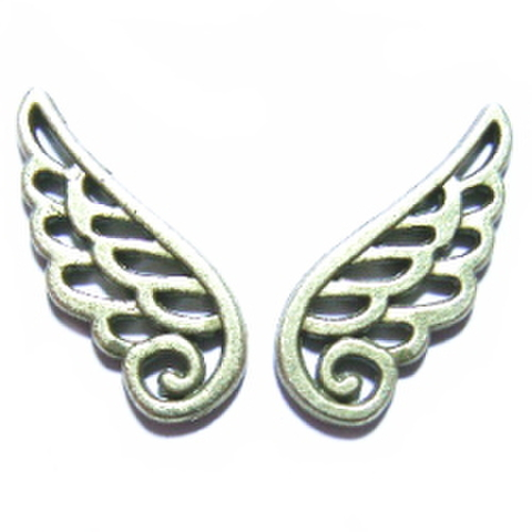 金属パーツ・天使の羽(金ブロンズ)