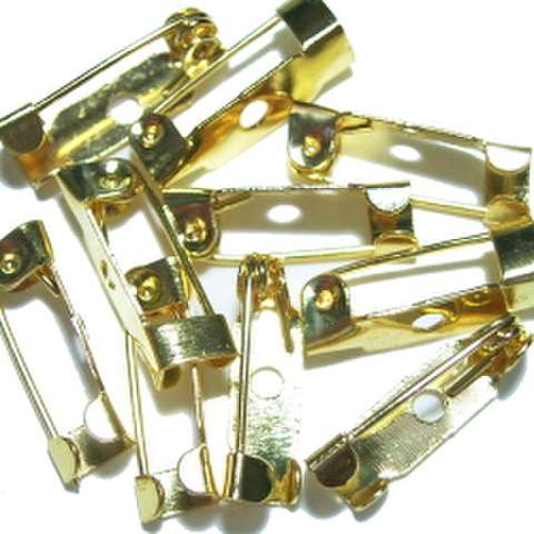 特価品・ミニミニブローチピン10ヶセット(ゴールド)
