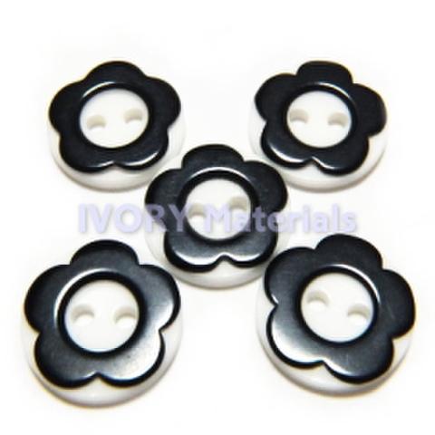 オセロボタン(黒い花)5ヶセット