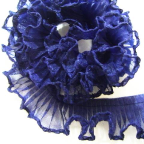 テトロンフリルレース(紺)