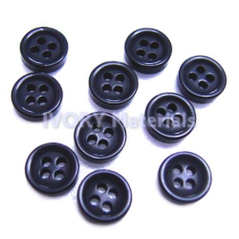 ミニボタン5ミリ・4つ穴(黒)