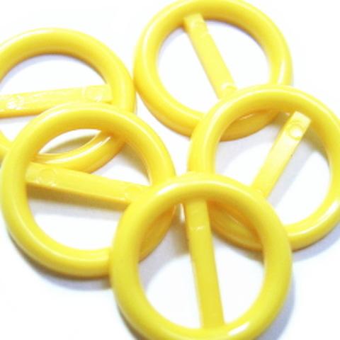 プラバックル・丸5ヶセット(黄色)