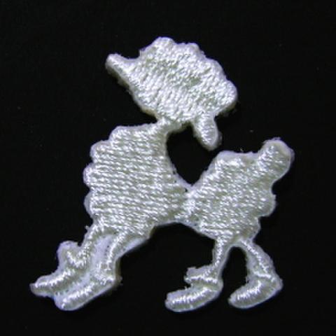 ミニワッペン・プードル(白)