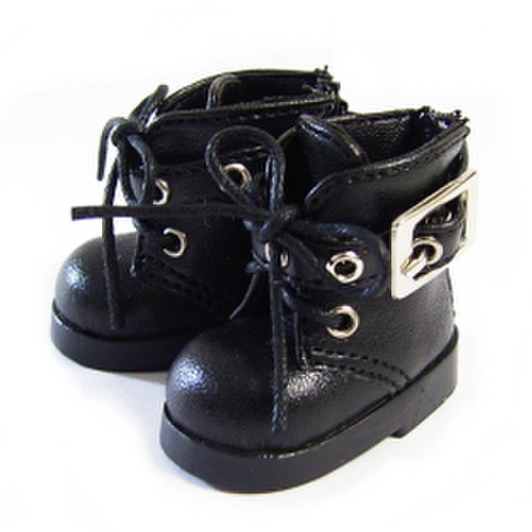 バックル付ショートブーツ(黒)