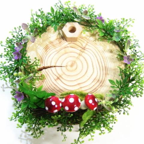 木製スタンド(きのこ)