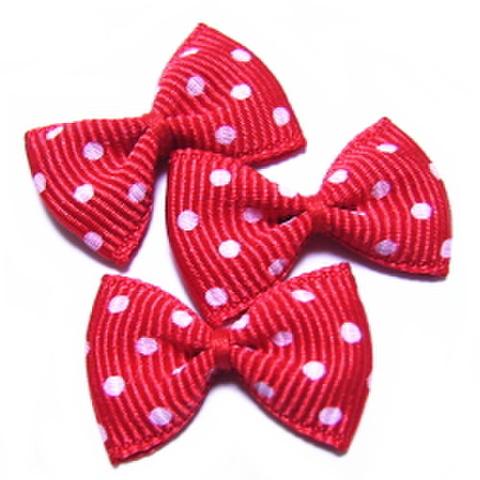 リボンモチーフ(赤×水玉)
