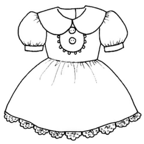大きな丸衿のワンピース