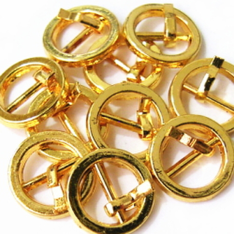 メッキバックル・爪丸10ヶセット(ゴールド)