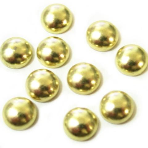 ホットフィックス・丸ポコ6ミリ(ゴールド)
