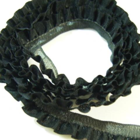 ストレッチフリルレース・シングル12mm(黒)