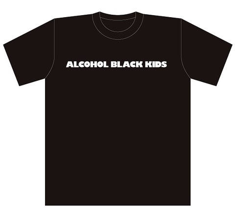ALCOHOL BLACK KIDS T-Shits BLACK&Silver glitter