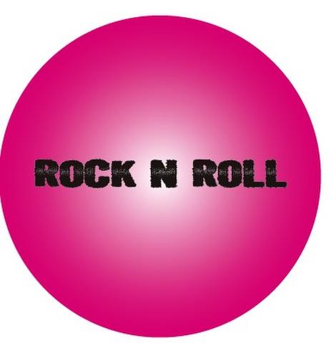 R'N'R  PINK METAL デカBADGE(直径76mm)