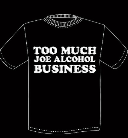 【SALE】JOE ALCOHOL 25anniv. TOO MUCH LOGO T-Shits BLACK