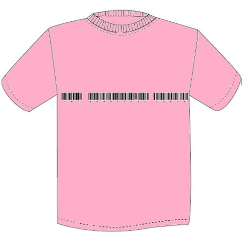 【限定色】TWFW バーコード Tシャツ ピンク