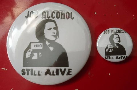 JOE ALCOHOL STILL ALIVE バッジ セット