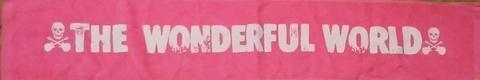 THE WONDERFUL WORLD マフラータオル ピンク