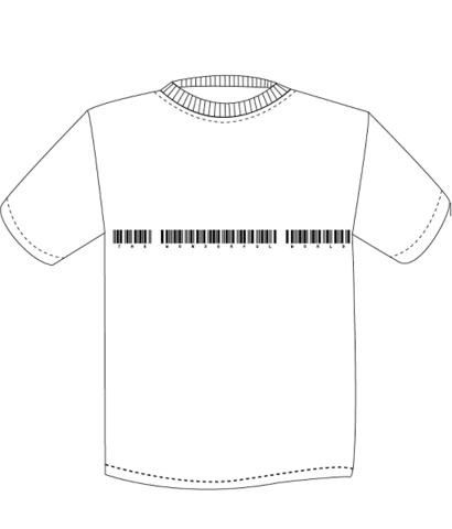 NEW TWFW バーコード Tシャツ ホワイト