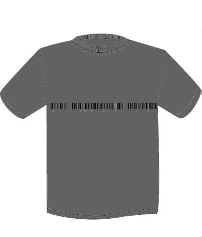 NEW TWFW バーコード Tシャツ チャコール