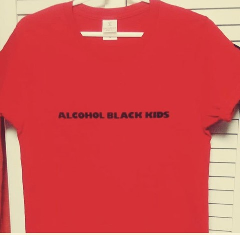 ALCOHOL BLACK KIDS T-Shits RED