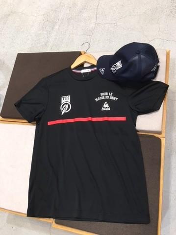 le coqコラボTOJバックポケット付きTシャツ(ブラック)