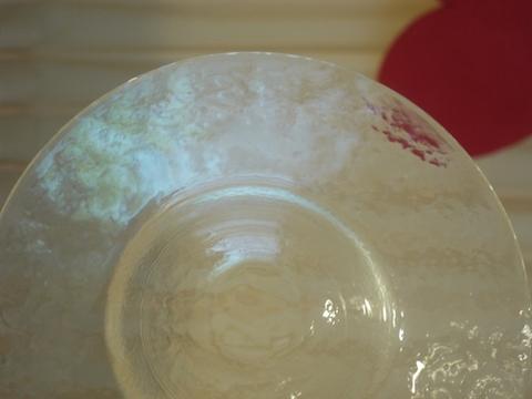 ガラス円盤型プレート 21センチ