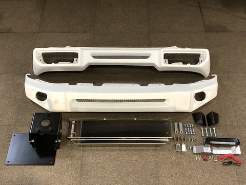 【Y-8】T-2フロント/T-1リア+スキッドパネル+ナンバー移動キット+スペアタイヤ移動ブラケットSET