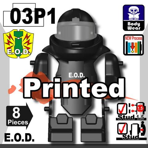 E.O.D TS70(爆発物処理班)プリント付き