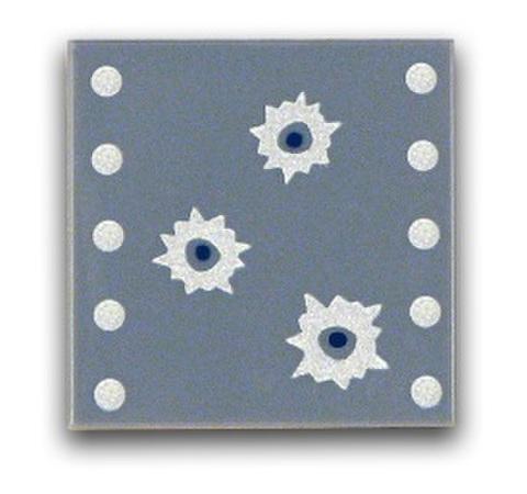 タイル:スチールプレート弾痕有