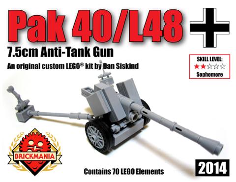 ドイツ軍 PaK 40/L48 7.5cm対戦車砲