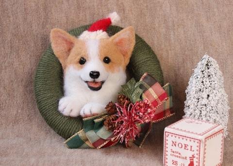 クリスマスリース*コーギーB