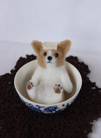 母の日おまけ付き*壺風呂わんこ コーギー1