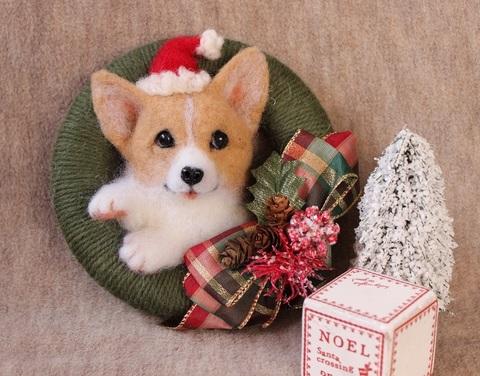 クリスマスリース*コーギーA
