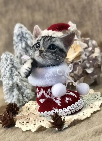 2018クリスマス*ブーツパピーにゃんこ